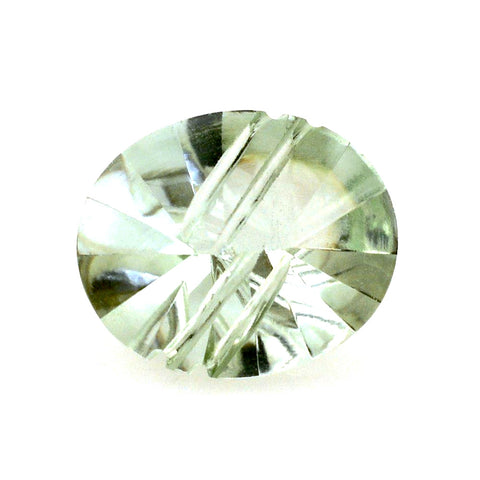 green amethyst prasiolite oval buff-top fancy 10x8mm gemstone