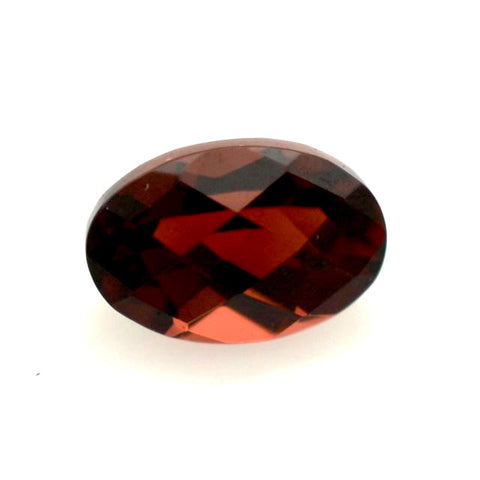 Natural garnet oval cut 12x9mm checkerboard loose gemstone