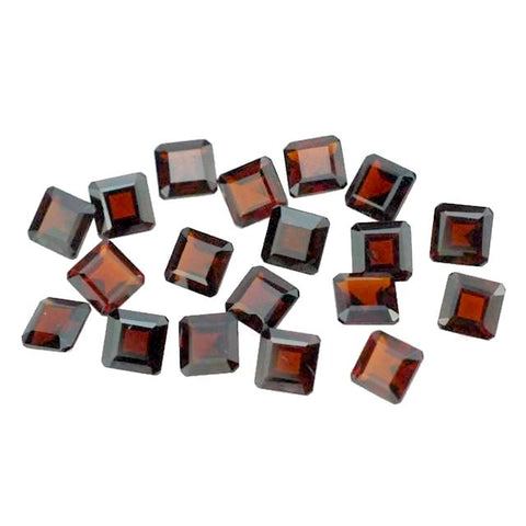 natural garnet square octagon cut 4mm gemstone