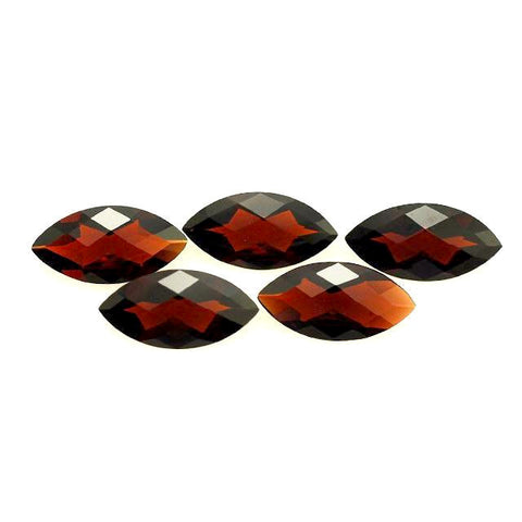 garnet red marquise checkerboard cut 10x5mm gemstone