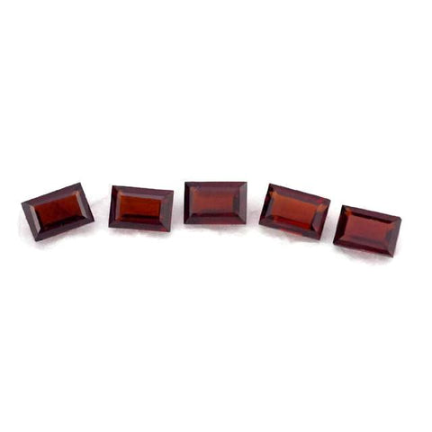 garnet red baguette cut 6x4mm loose gemstone