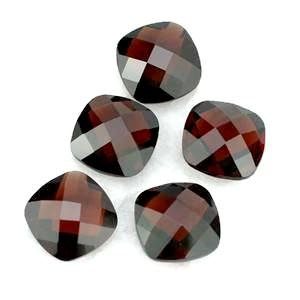 garnet red cushion briolette cut 4mm gemstone