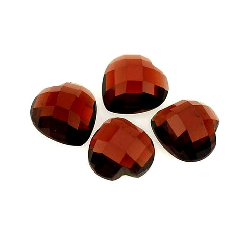 garnet red heart cabochon cut 6mm loose gemstone