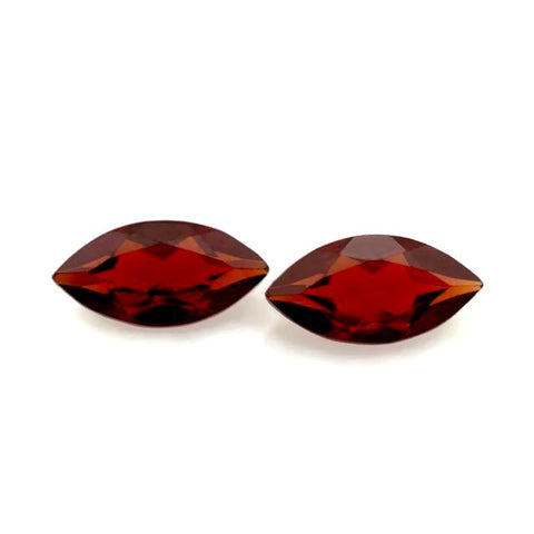 garnet red marquise cut 7x3.5mm loose stone