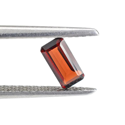 garnet red octagon emerald cut 6x3mm natural gemstone