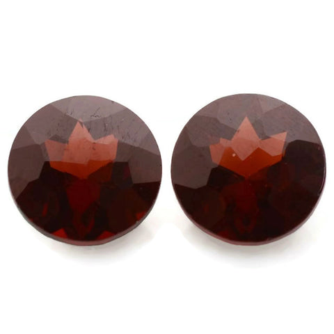 garnet red round irregular facets 7mm loose stones