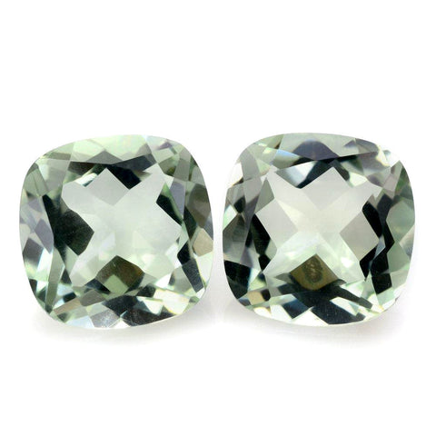 Green amethyst prasiolite cushion cut 9mm gemstone