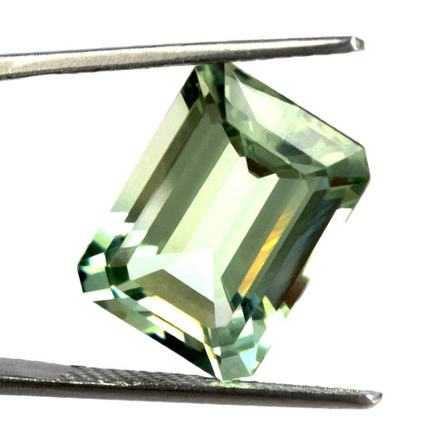 green amethyst prasiolite octagon emerald cut 12x10mm gemstone