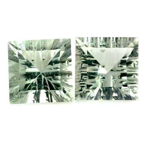 Green Amethyst square cut - 10mm (concave)
