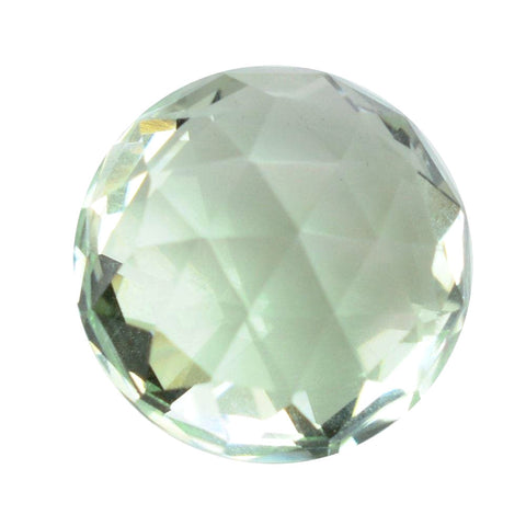 green amethyst prasiolite round checkerboard cabochon 7mm gemstone