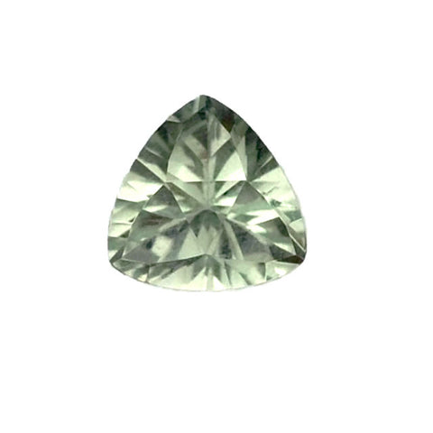 Green amethyst prasiolite trillion mirror diamond cut gemstone 10mm