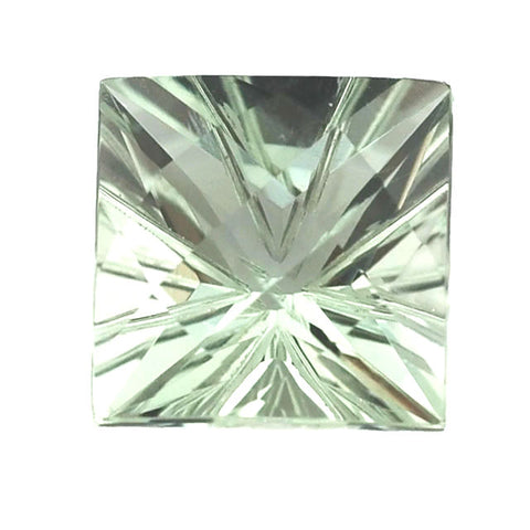 green amethyst prasiolite square star checkerboard cut 12mm gemstone