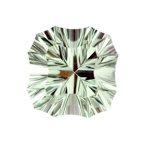 green amethyst prasiolite gemstones cushion fancy concave 8mm