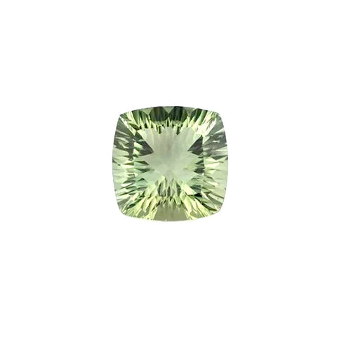 Green amethyst prasiolite cushion concave cut 10mm gemstone