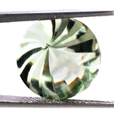 green amethyst prasiolite round cut 12mm whirl buff-top loose stone