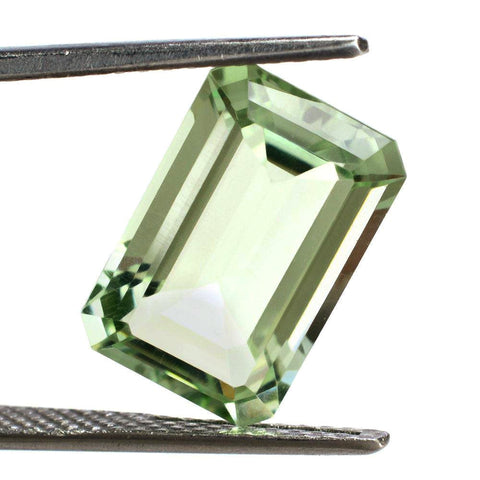 Green amethyst octagon emerald cut - 20x12mm