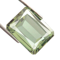 Green amethyst octagon emerald cut - 18x12mm