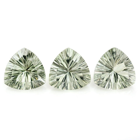 green amethyst trillion concave cut 8mm natural loose gemstone
