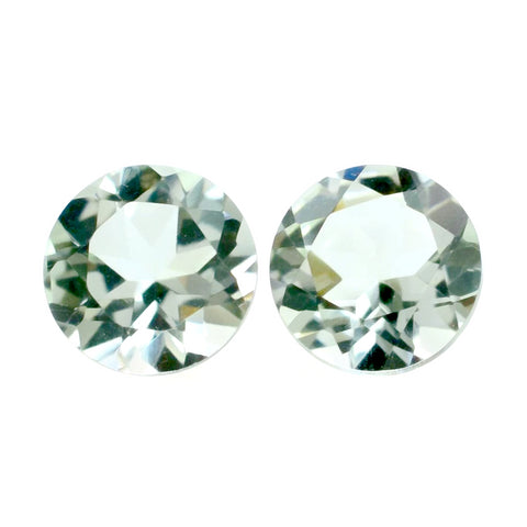 green amethyst prasiolite round cut 4mm loose stone