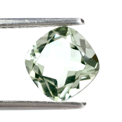 Green amethyst prasiolite cushion cut 8mm gemstone