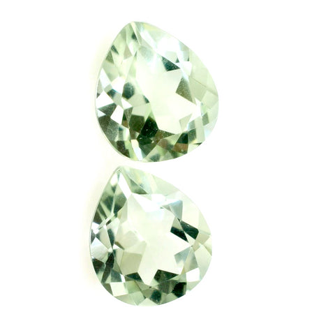 green amethyst prasiolite pear heart shape 6x6mm gemstone