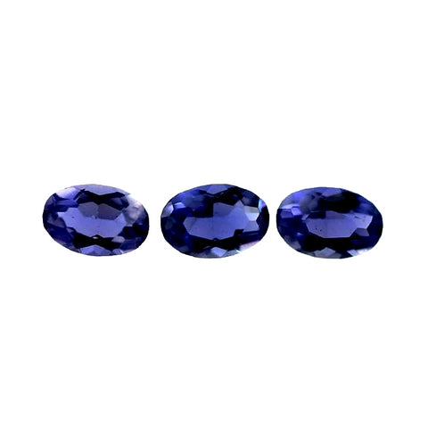 natural iolite oval cut 6x4mm loose gemstone