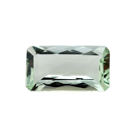 green amethyst prasiolite octagon emerald checkerboard cut 22x12mm gem