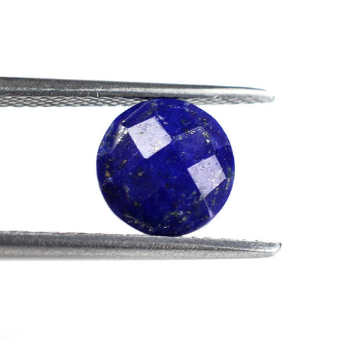 natural lapis lazuli round briolette cut 8mm checkerboard gemstone