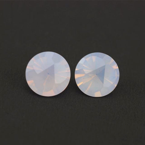 Lavender quartz round shape beautiful flower in the back cut - 10 mm