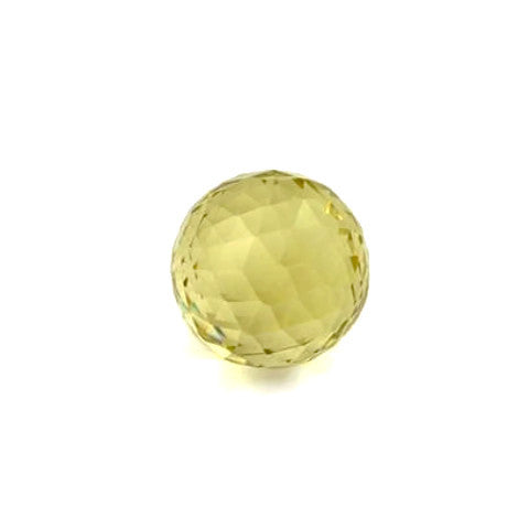 Natural lemon quartz sphere/ball checkerboard 10mm gem