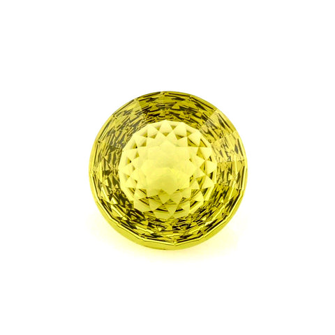 lemon quartz round net-cut 15mm natural gemstone