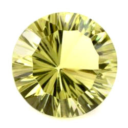 Natural genuine lemon quartz round concave cut 6mm gemstone
