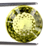 natural lemon quartz round net-cut 10mm loose gemstone