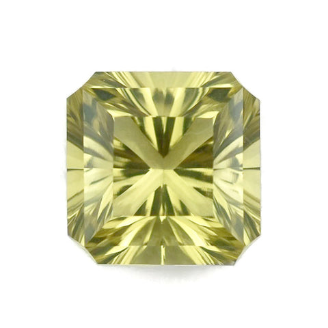 genuine lemon quartz asscher cut 10mm loose gemstone