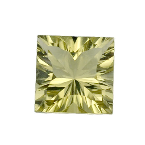 lemon quartz square concave cut 12mm natural gemstone