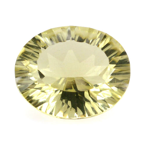lemon quartz oval concave cut 12x10mm natural gemstone