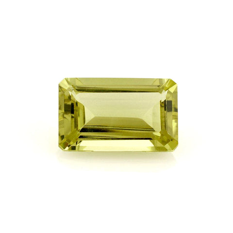 lemon quartz octagon emerald cut 16x10mm natural gemstone