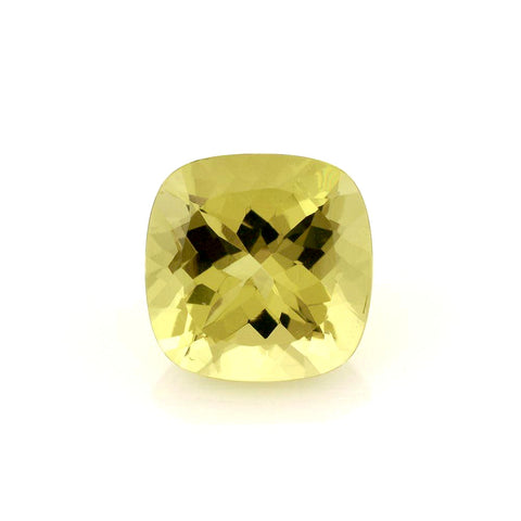 lemon quartz cushion cut 9mm loose gemstone
