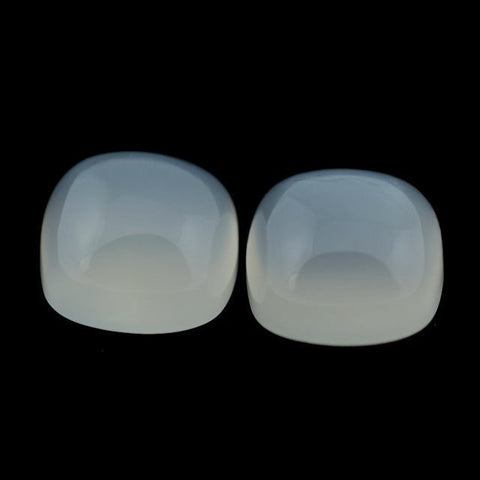 Natural white moonstone cushion cut cabochon 6mm gemstone