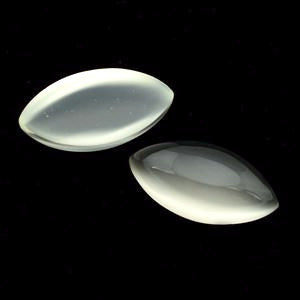 Moonstone marquise cabochon cut (white) - 16 x 8  mm