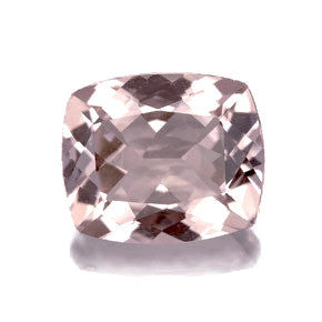 Pink morganite cushion octagon cut - 12x10mm
