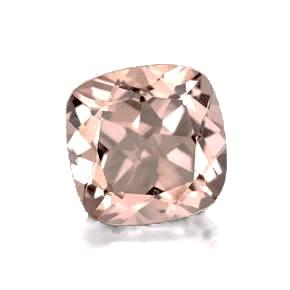 morganite peach cushion 7mm loose gemstone