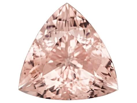 natural peach morganite trillion cut 9mm loose gemstone
