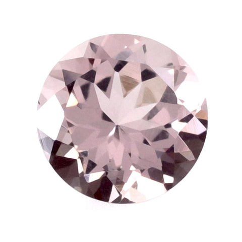 morganite round cut 5mm pink natural gemstone