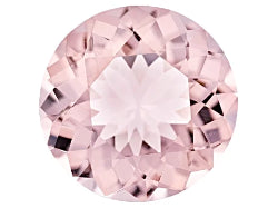 pink morganite round cut 6mm natural gemstone
