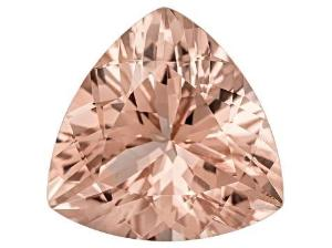 morganite peach trillion cut 8mm loose gemstone extra quality