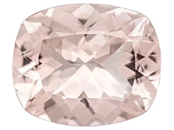 morganite cushion octagon cut 11x9mm pink peach gem