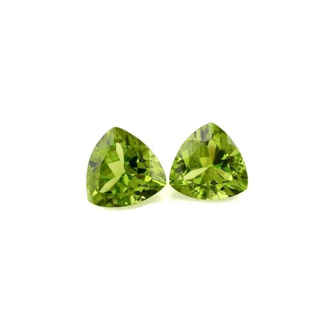 natural peridot trillion cut 9mm loose stone