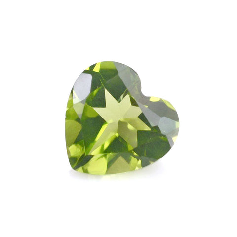 Natural peridot heart cut 7mm loose gemstone