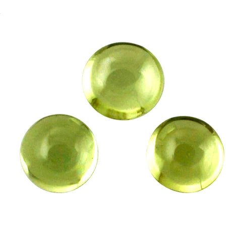 peridot green round cabochon 8mm loose gemstone
